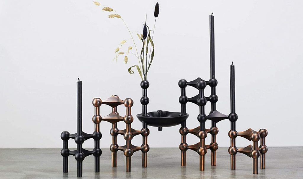 accessoire de décoration bougeoir Nagel Candle Holder stoff