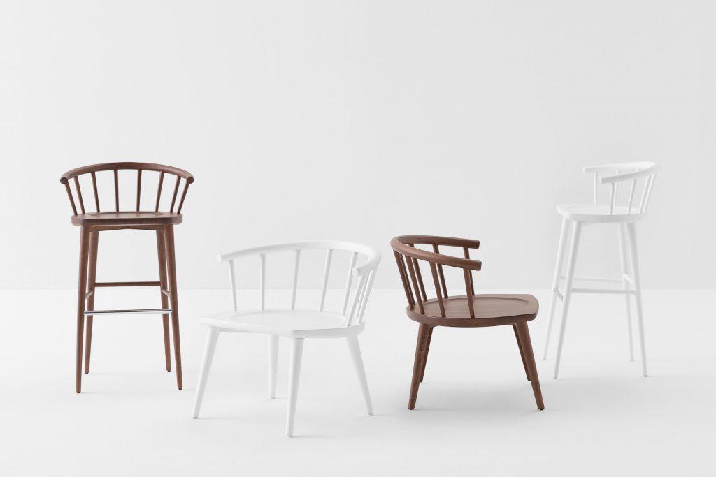 chaise chaise haute W. Billiani