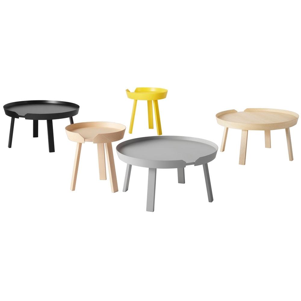 table around coffee table muuto