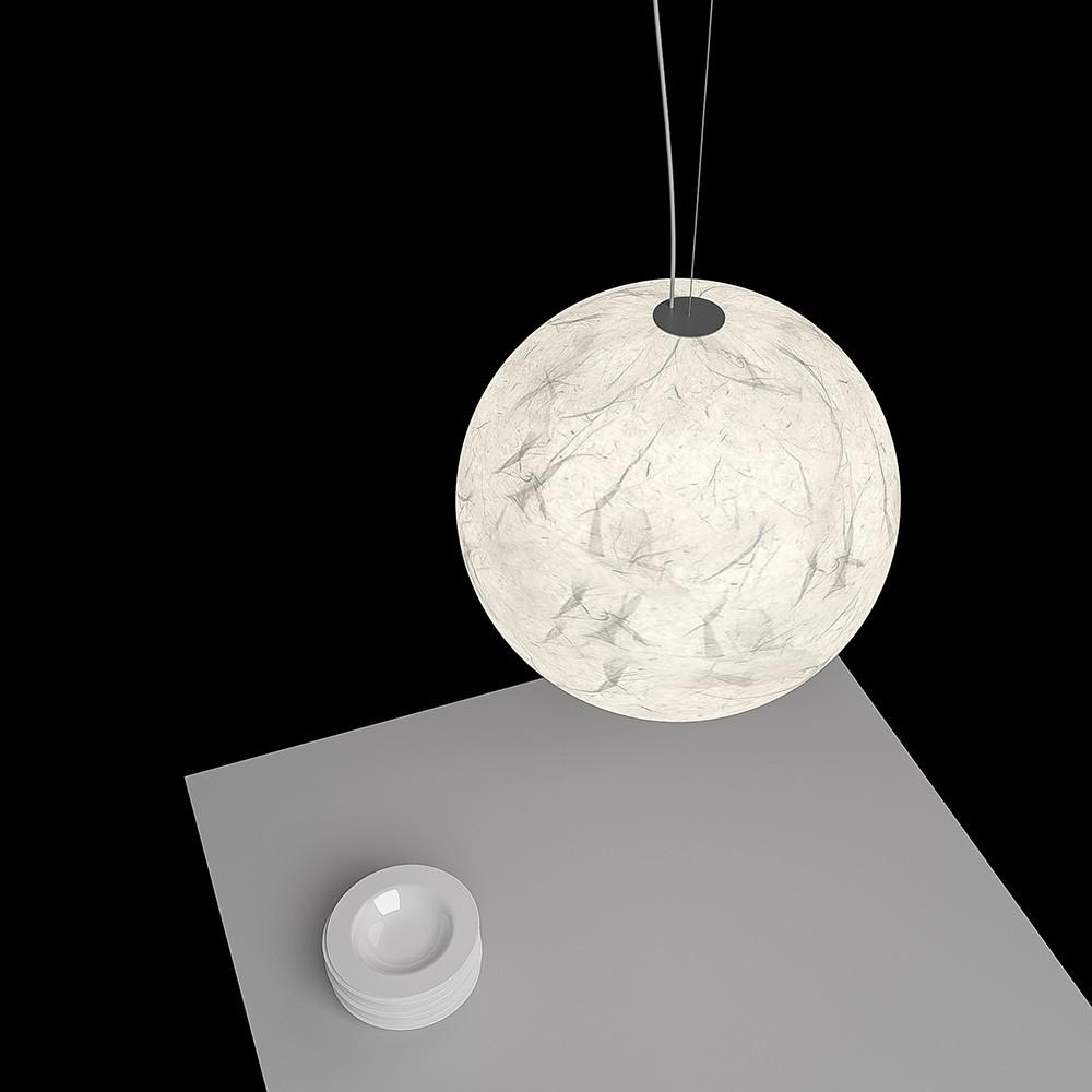 suspension lune ronde luminaire