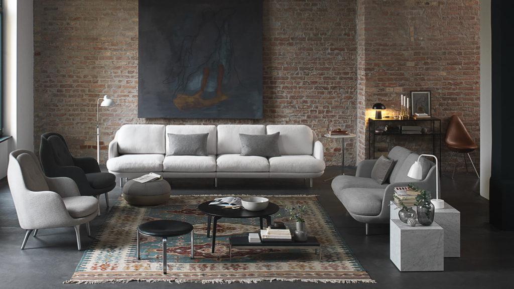 canapé lune sofa fritz hansen