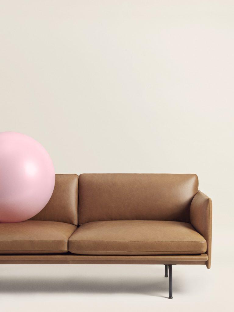 canapé intérieur cuir outline sofa muuto