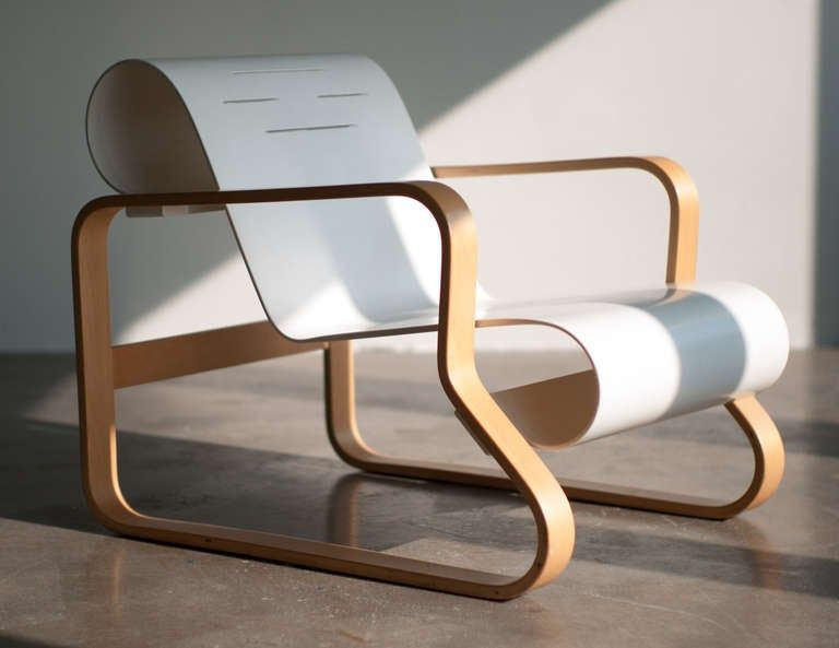 fauteuil blanc  armchair Paimio artek
