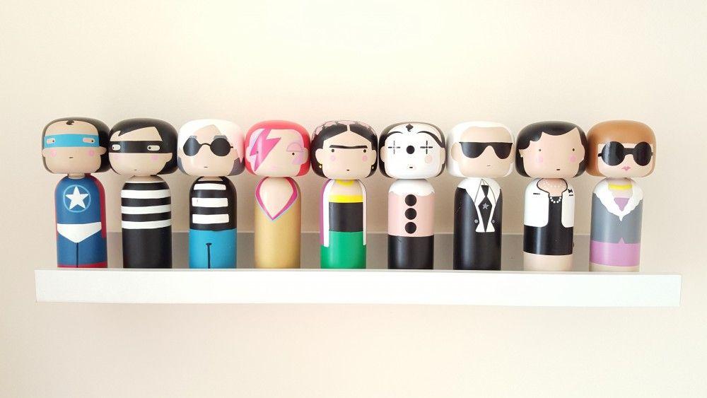 figurine decoration kokeshi Lucie Kaas
