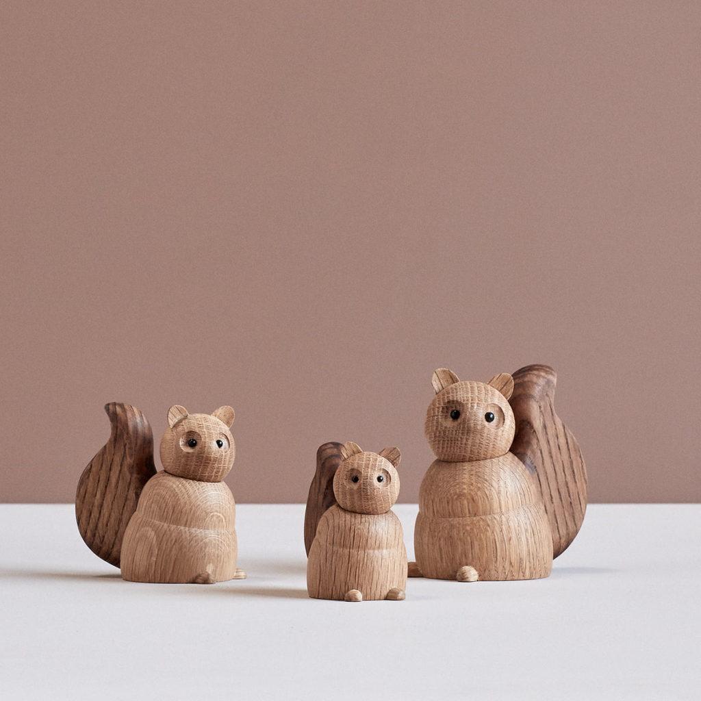 decoration écureuil wooden animals Lucie Kaas