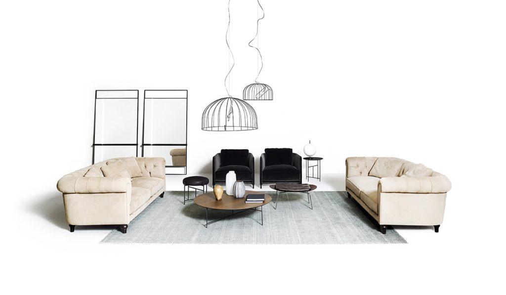 de Padova chesterfield canapé sofa