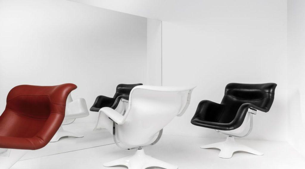 fauteuil cuir avec pouf