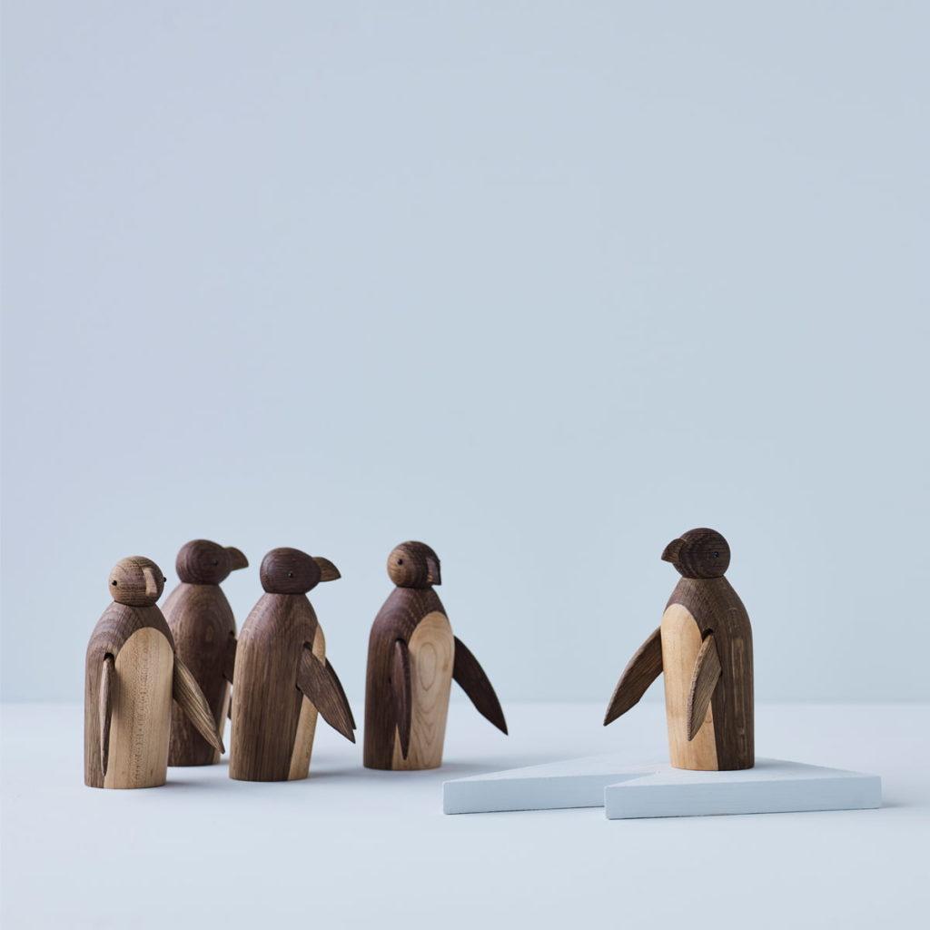 decoration bois Pinguin Lucie Kaas wooden animals