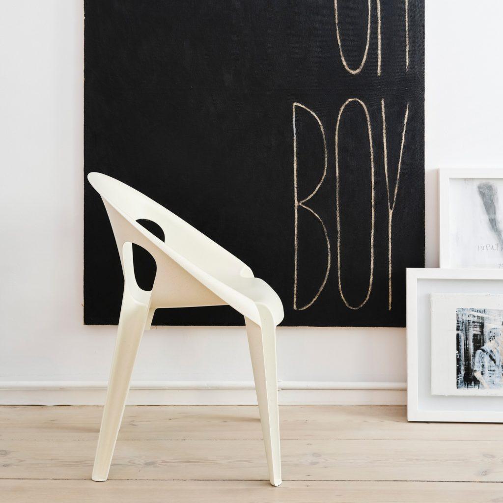 chaise extérieur intérieur belle chair magis recycler