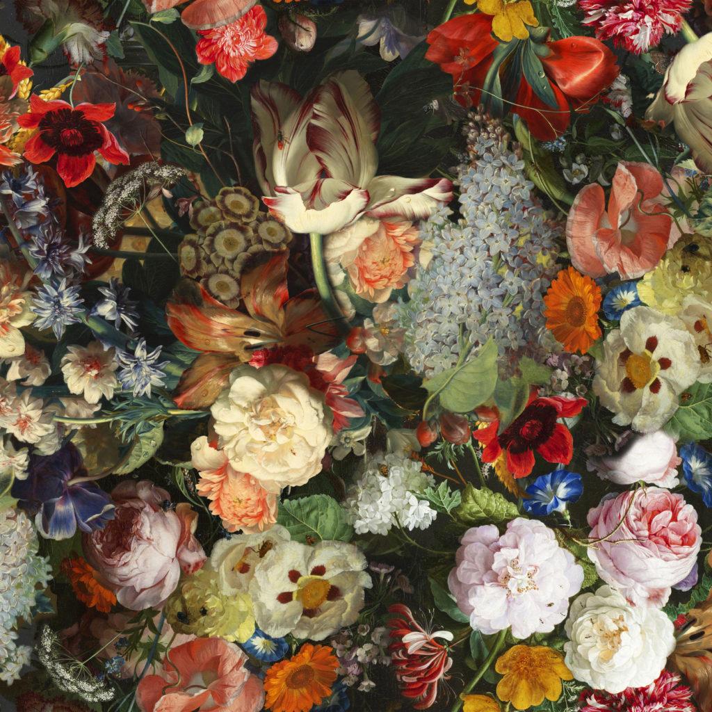 tapis floral intérieur