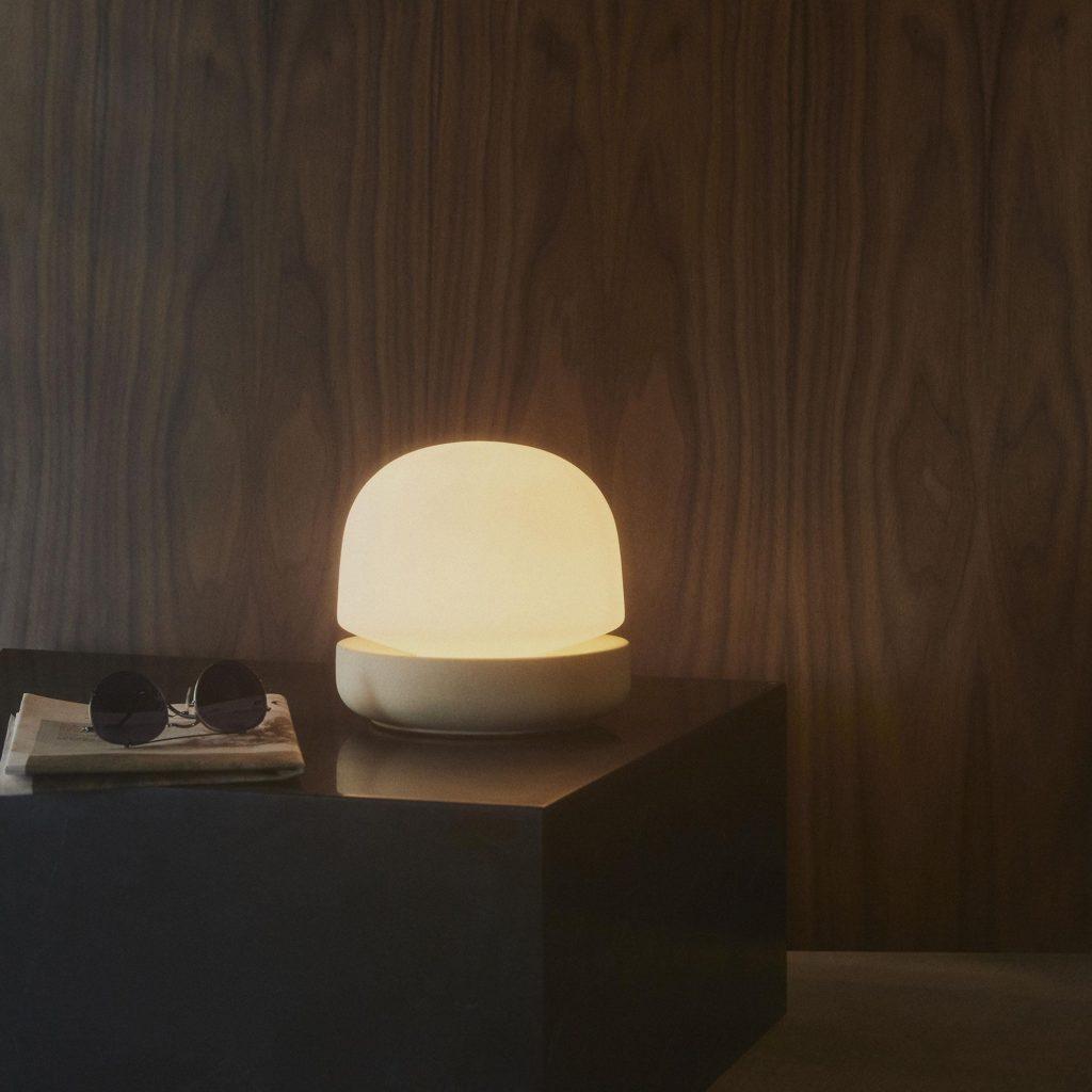 lampe de table luminaire stone table lamp menu