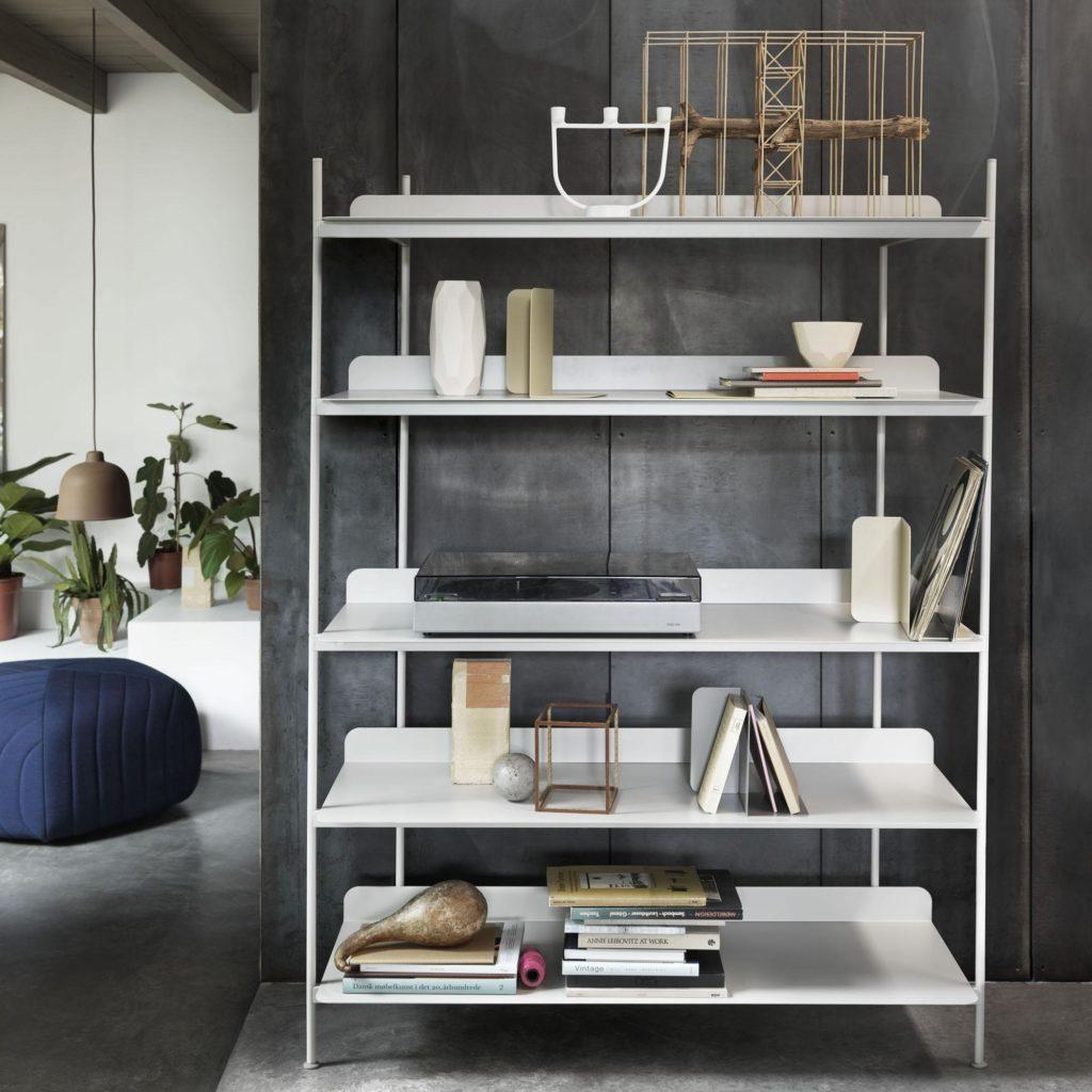 compile shelving system muuto blanc rangement