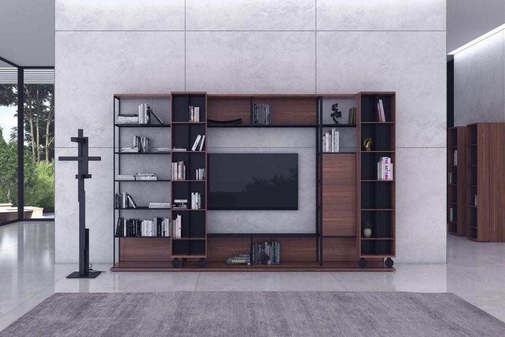 meuble tv rangement Literatura Open TV Punt Mobles