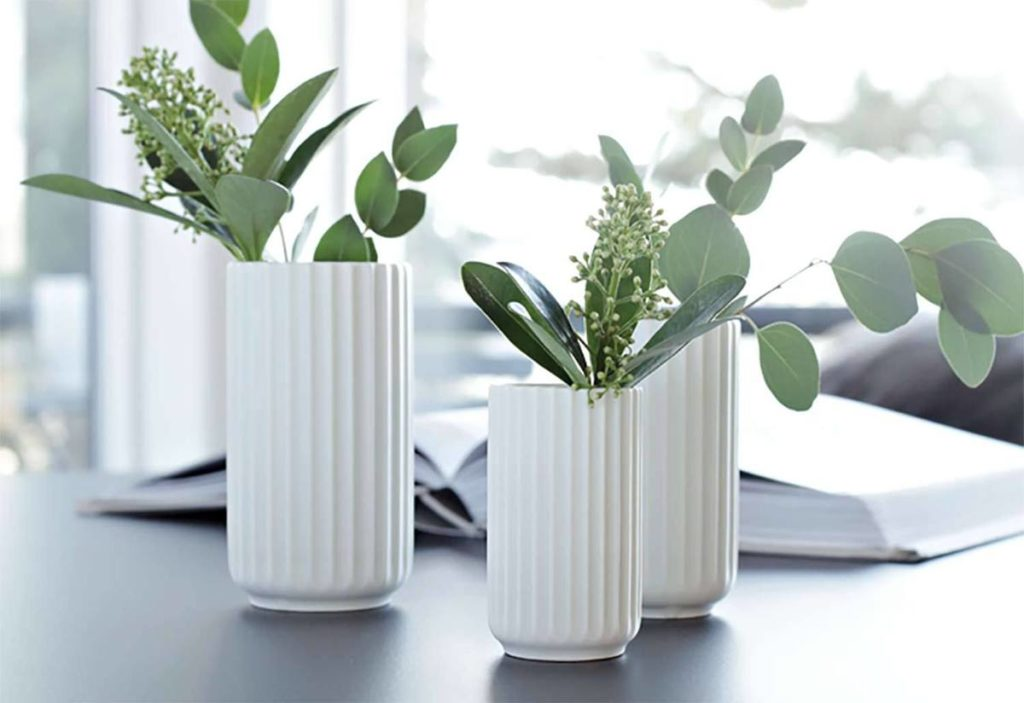 Décoration art de la table vase porcelaine verre lyngby porcelain rosendahl
