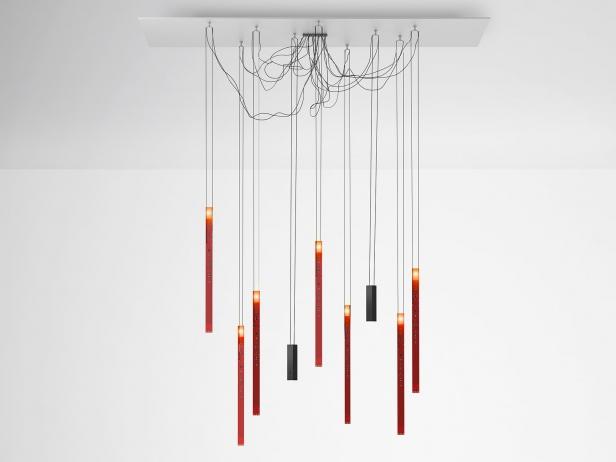 luminaire suspension flying flames ingo maurer