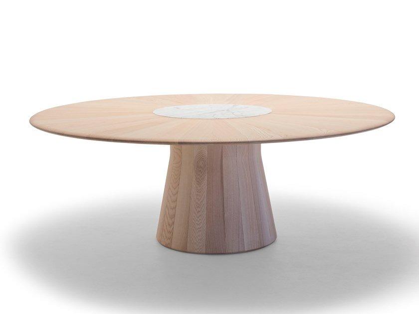 table intérieur bois reverse wood Andreu world