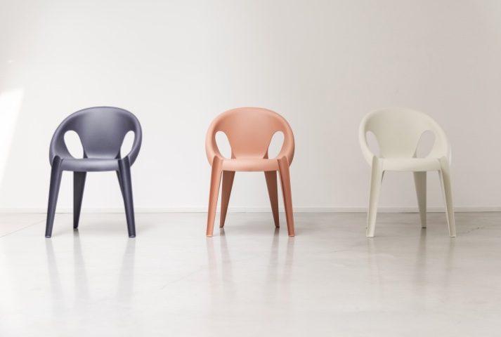 différentes couleurs chaise intérieur extérieur eco design recycler