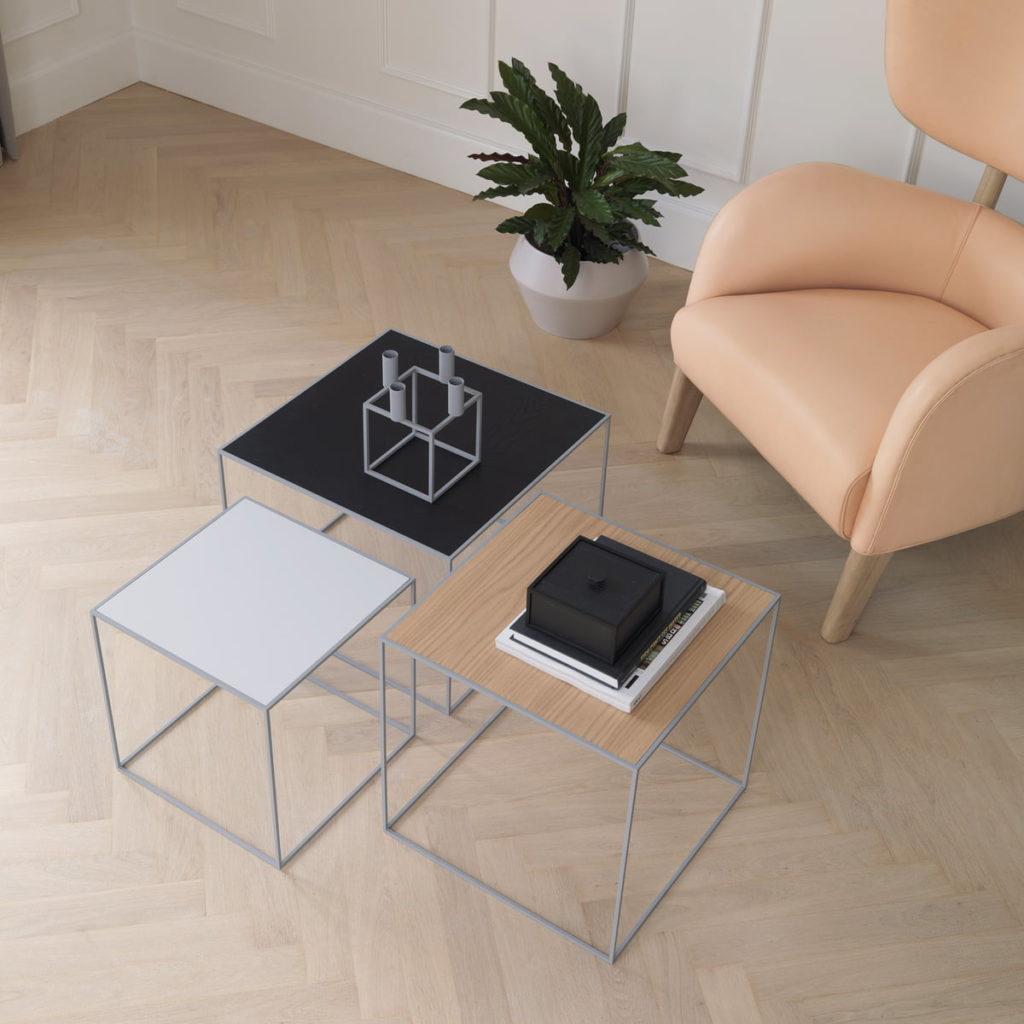 table basse twin table base by Lassen  intérieur