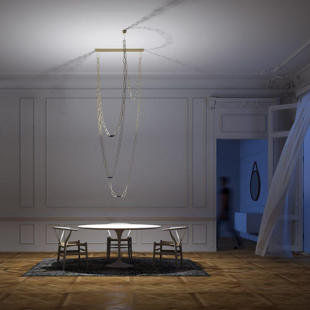 luminaire suspension Davide groppi chandelier