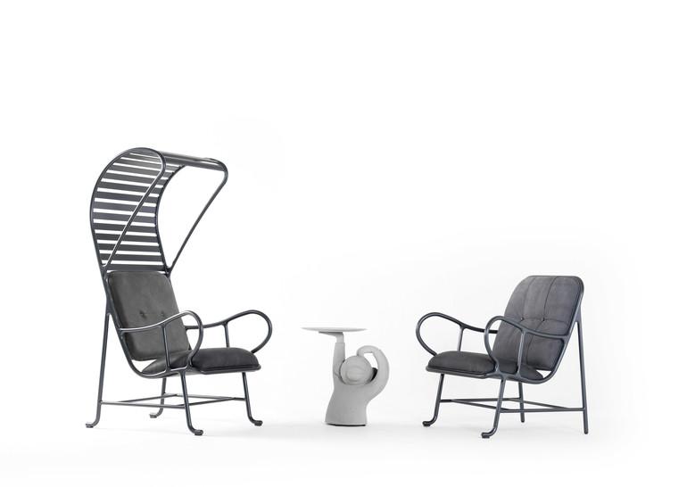 fauteuil extérieur gardenias arkchair B.D. Barcelona coussin transat