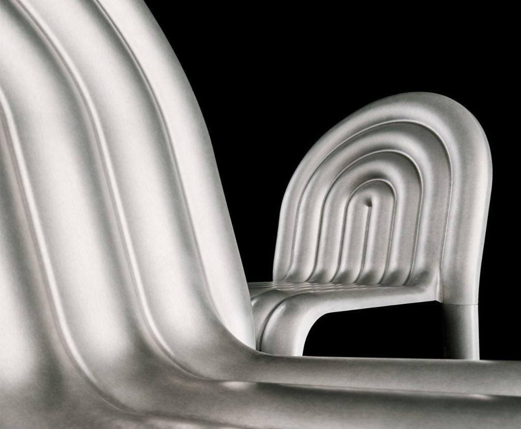 chaise ecodesign aluminium tom Dixon hydro chair