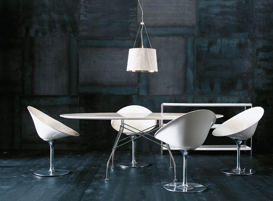 table bureau repas glossy marble table kartell