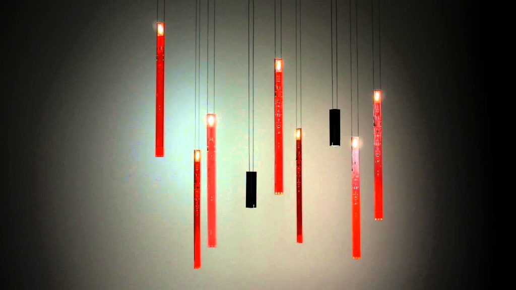 suspension rouge luminaire