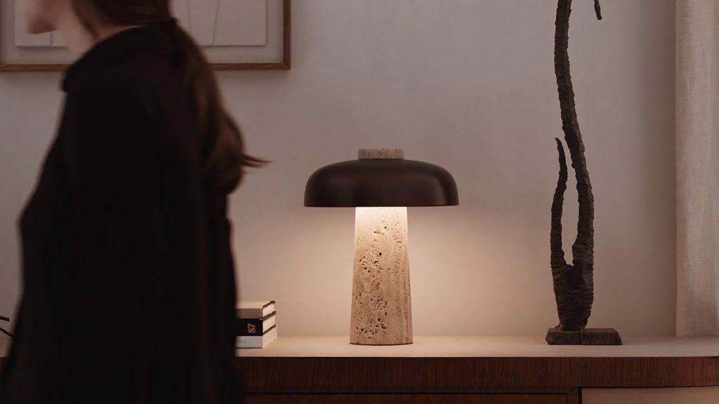 lampe de table luminaire reverse table lamp menu