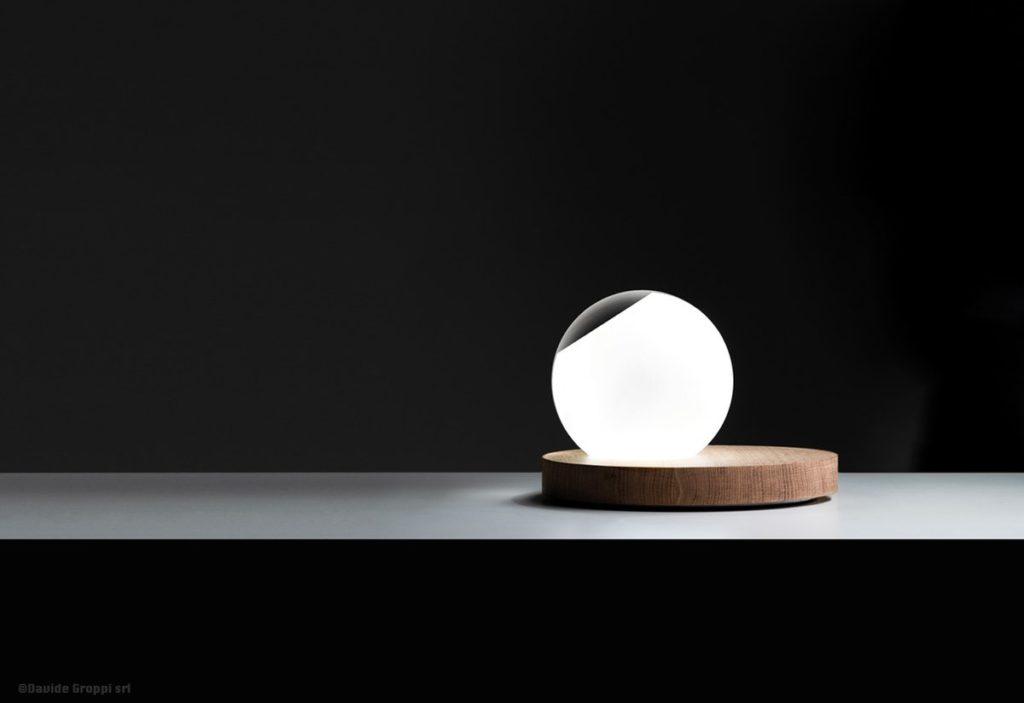 lampe bois et verre