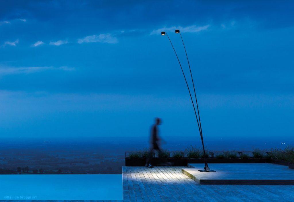 lampadaire extérieur lampe de sol Davide Groppi sampei outdoor