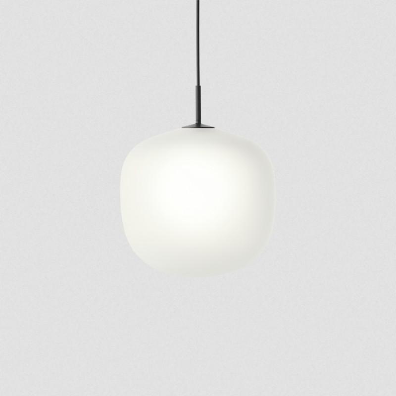 lampe verre suspension rime pendant lampe muuto luminaire