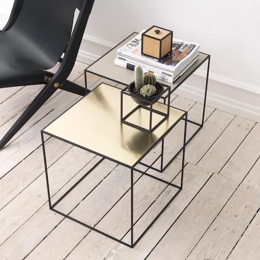 table basse twin table base by Lassen